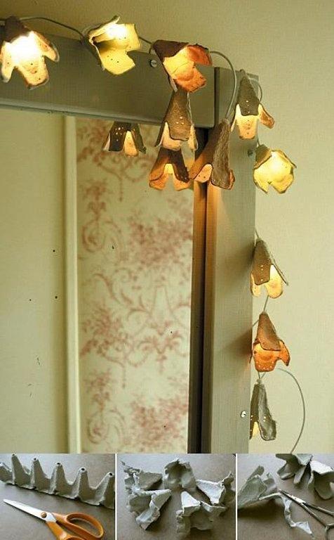 luces con hueveras
