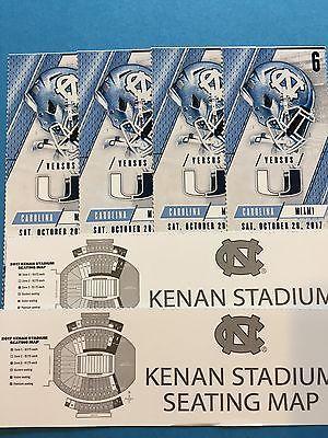 #tickets 4 North Carolina Tar Heels vs #17 Miami Hurricanes Football Tickets please retweet