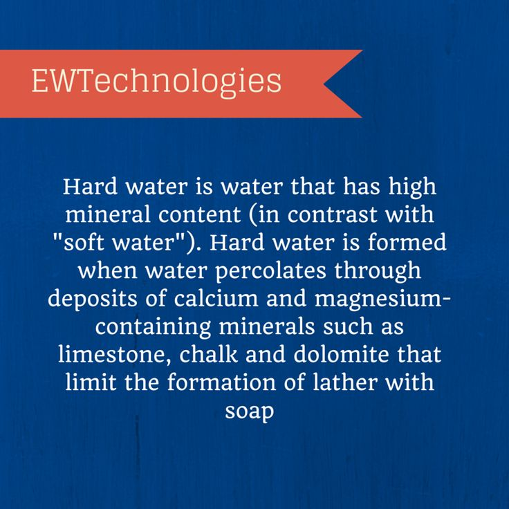 A Simple Definition Of Hard Water Hard Water Hard