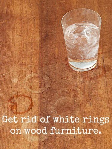 Here's how to get rid of those annoying rings on wood furniture.