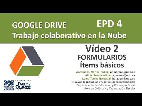 GOOGLE DRIVE 2015. 02 - Formularios (I) Ítems básicos. - YouTube