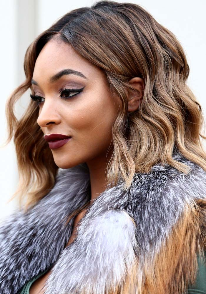 Jourdan Dunn at the Burberry London Menswear Show Autumn/Winter 2016 in London on January 11, 2016