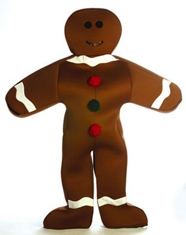 seriously?!?!? Gingerbread Man Adult Costume. Could be a christmas costume or something from the game Candy land!