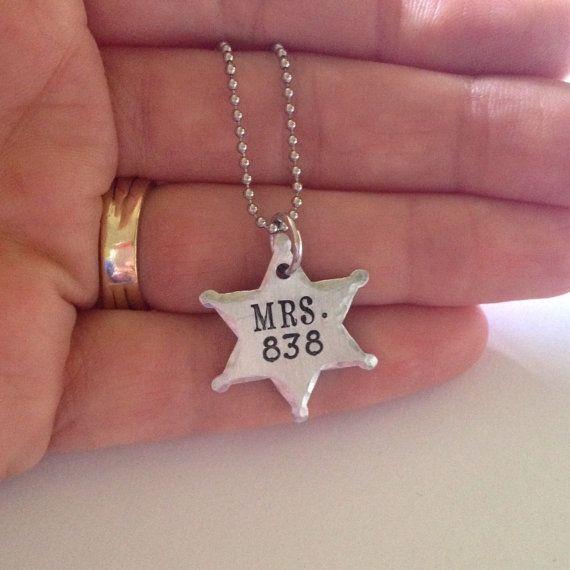 Police wife necklace-LEOW jewelry-police by ChristinesImpression