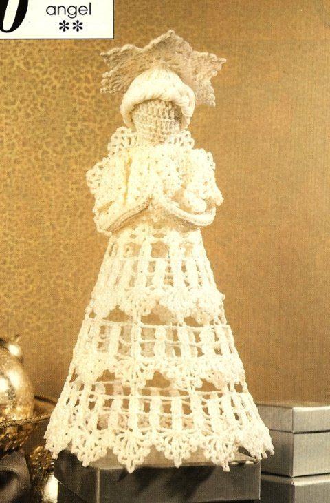 Crochet Heirloom Christmas Angel Treetopper By