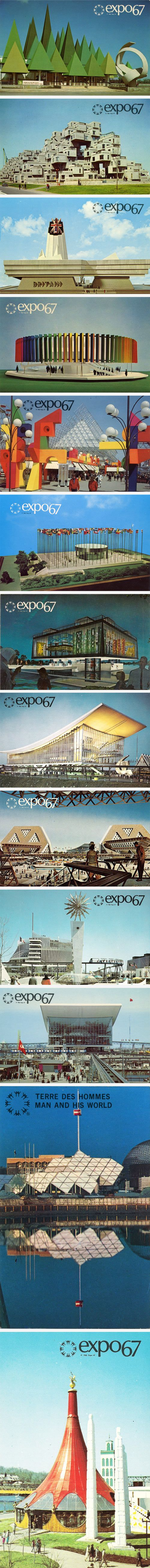 "Expo 67 was open from April to October, 1967 in Montreal, Canada.   The site consisted of two islands and a peninsula in the middle of the St. Lawrence River.   The admission ticket was referred to as a passport and entitled the holders to free entry to all pavilions as well as unlimited use of the mass transit system - Expo-Express. The passport could be filled with ""visa stamps"" at the National Pavilions.    Via: http://www.alamedainfo.com/Expo_67_Montreal.htm"