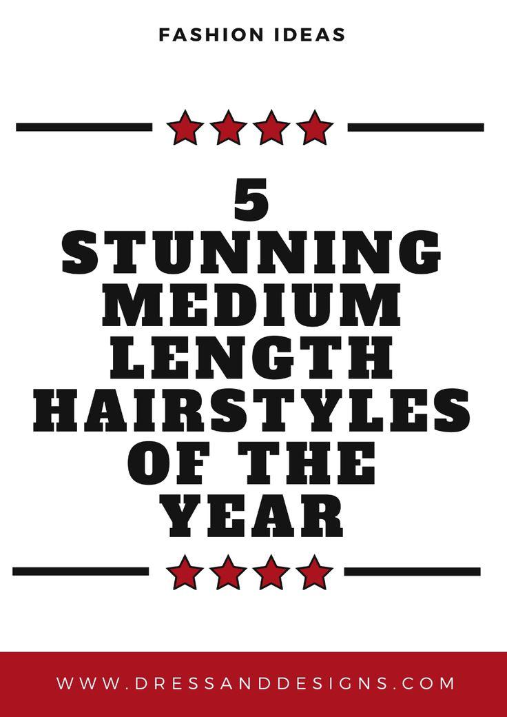 5 atemberaubende mittellange Frisuren des Jahres # Mode # Modedesign # Modefotografie # Modetipps