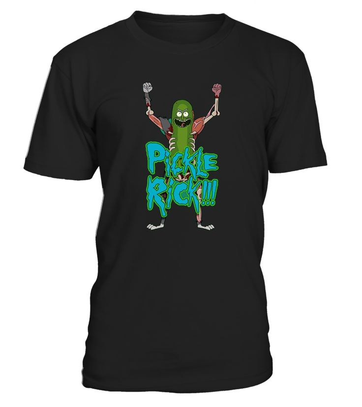 Pickle shirts are a cool gift for you or your friends. Funny Rick and a bottle of pickles too.   Love funny pickle shirts and this is awesome as a wear everyday shirt for chuckles. If you like a loose fit, please be sure to order up a size.