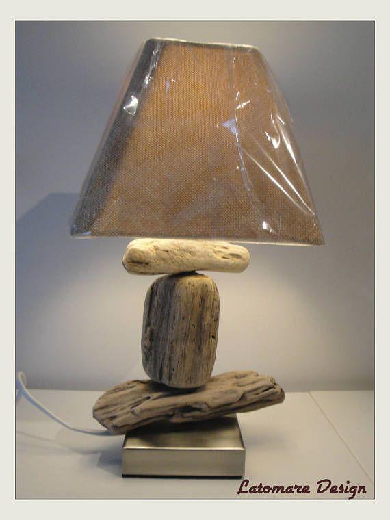 Lampe Einzigartige Treibholz Auf Einem 8 X 8 Cm Aluminium Basis Hohe 37 Cm Perfekt In Ein Wohnzimmer Oder Sogar Nach Driftwood Lamp Farmhouse Decor Barn Wood