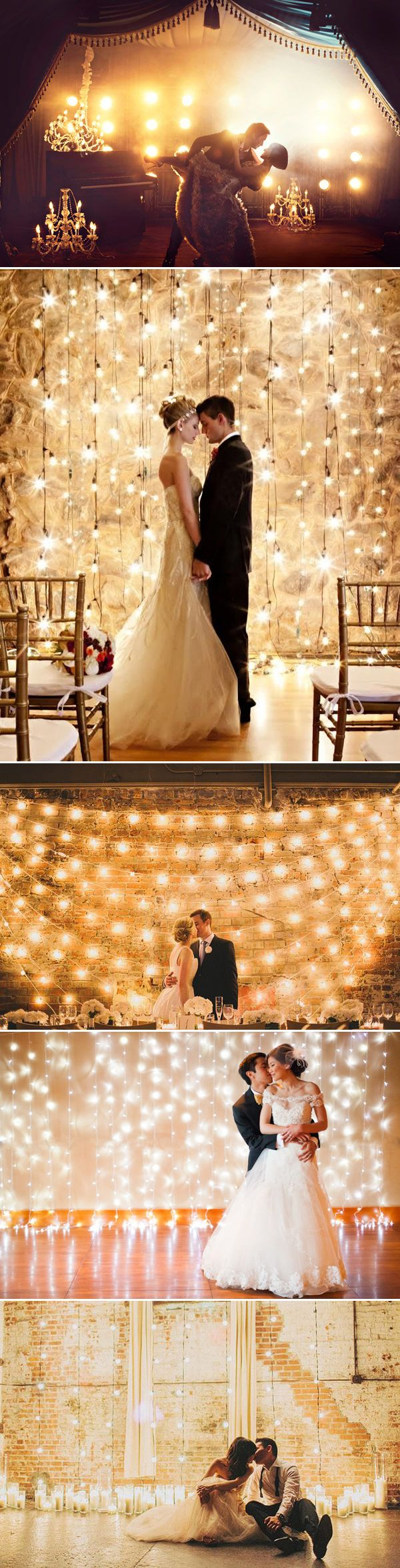 Magical Lighting Wedding Backdrop / http://www.deerpearlflowers.com/53-super-creative-wedding-photo-backdrops/