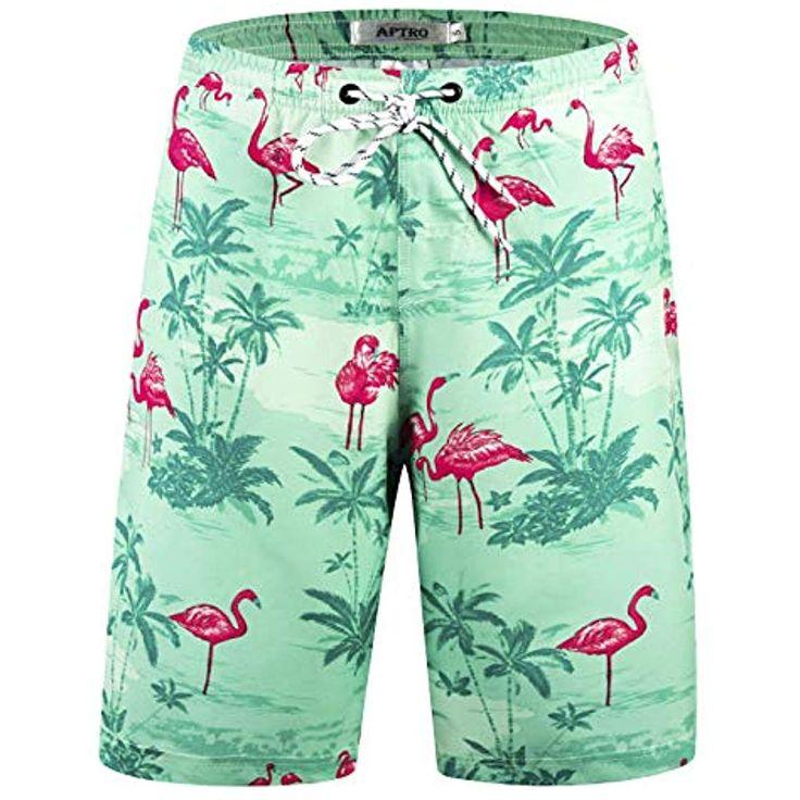 APTRO Mens Swim Trunks Beach Shorts Pants Bathing Suits High Waisted Athletic Sh…
