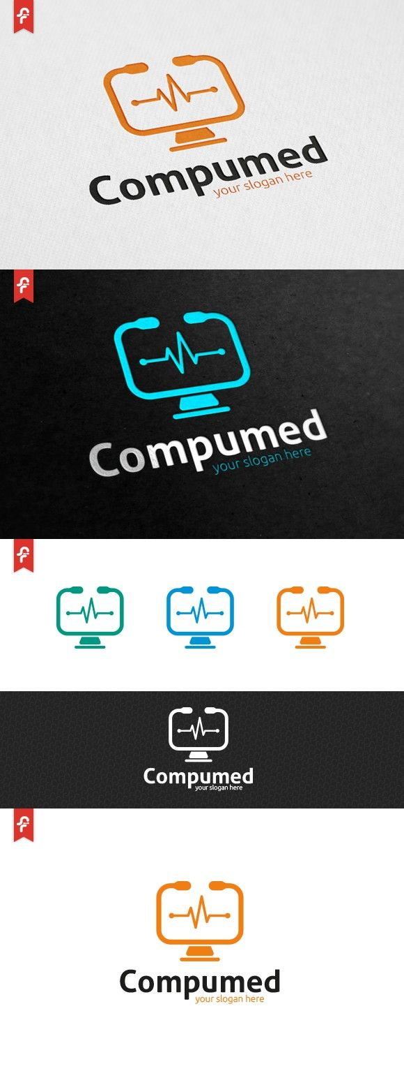 Computer Medical Logo. Logo Templates. $29.00