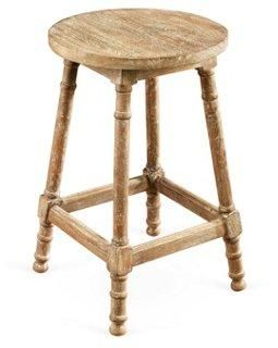 Exceptional Laird Stool, Weathered Sand    Top It With Your Favorite Blooming Plant For  A