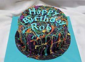 Butterface Cakes: Paint Splatter Cake