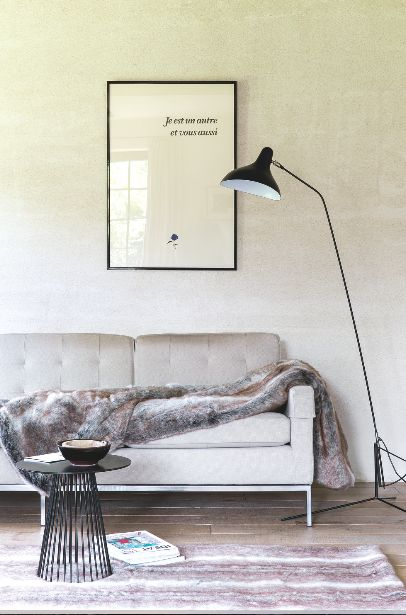 Faux fur rug & plaid Ligne Pure
