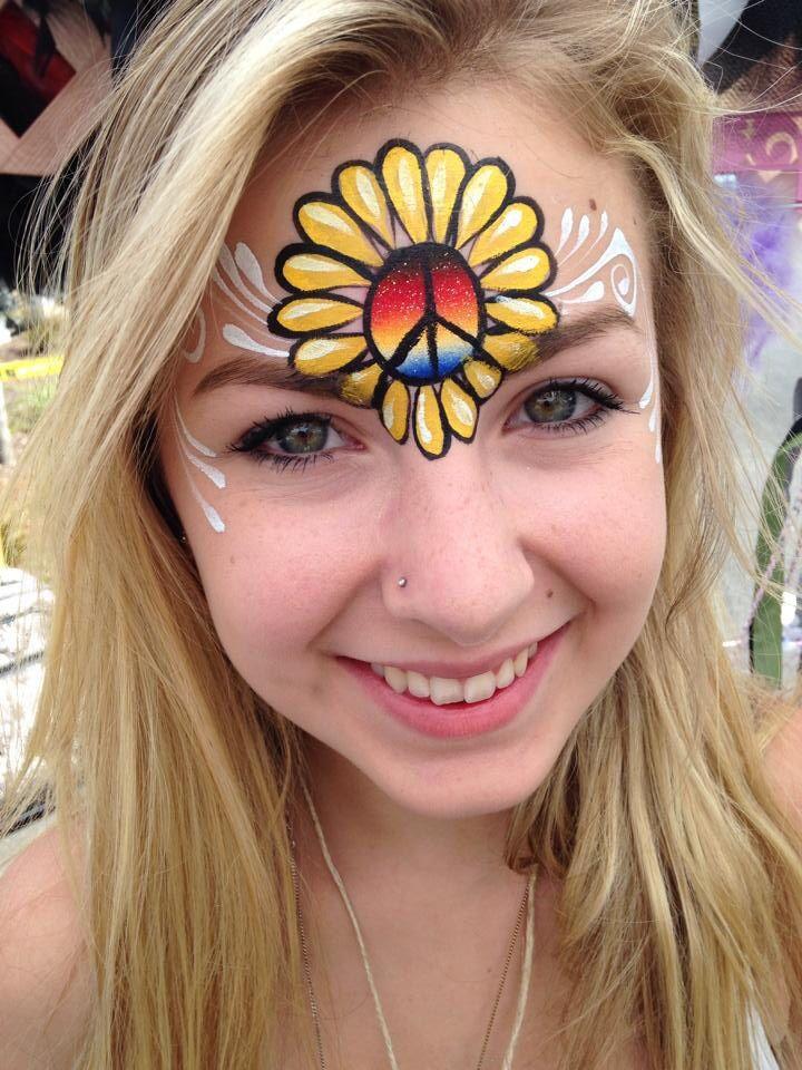 Gina Niemi || summer sunflower design, using Cameleon Soulfire split cake. I love that cake, my favorite!