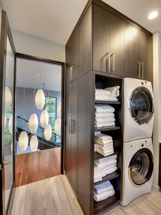 Contemporary Laundry Room Design Pictures Remodel Decor And Ideas Linen Storage Near