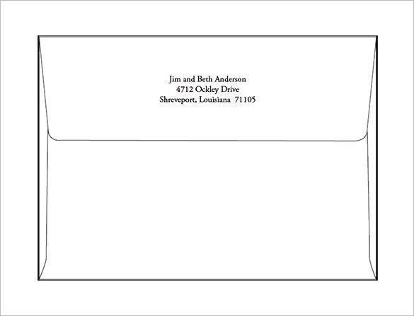 a7 envelope templates  u2013 11  free printable word  psd  pdf format download