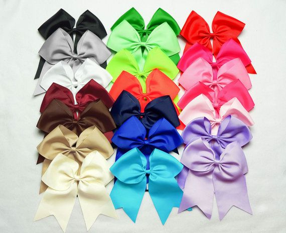 Cheer Bows PICK 3 Cheerbows Cheerleading Bow Mint by JuicyBows