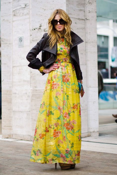 fun mix of girly and rockroll // vintage dress, yigal azrouel jacket