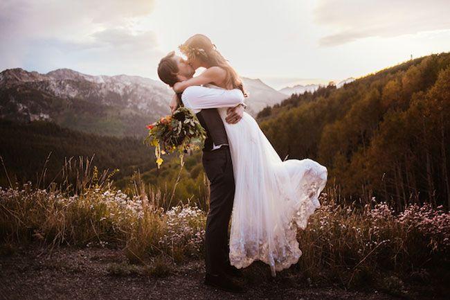 This wedding is honestly so perfect...  Utah Mountain Wedding