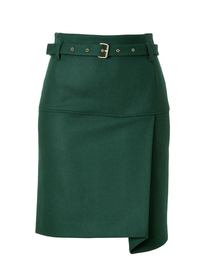 Wool blend skirt with asymmetric draping | See by Chloe