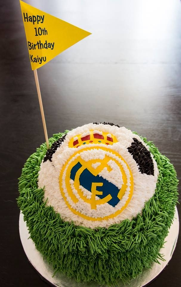 Real madrid soccer birthday cake | Cake Decorating ...