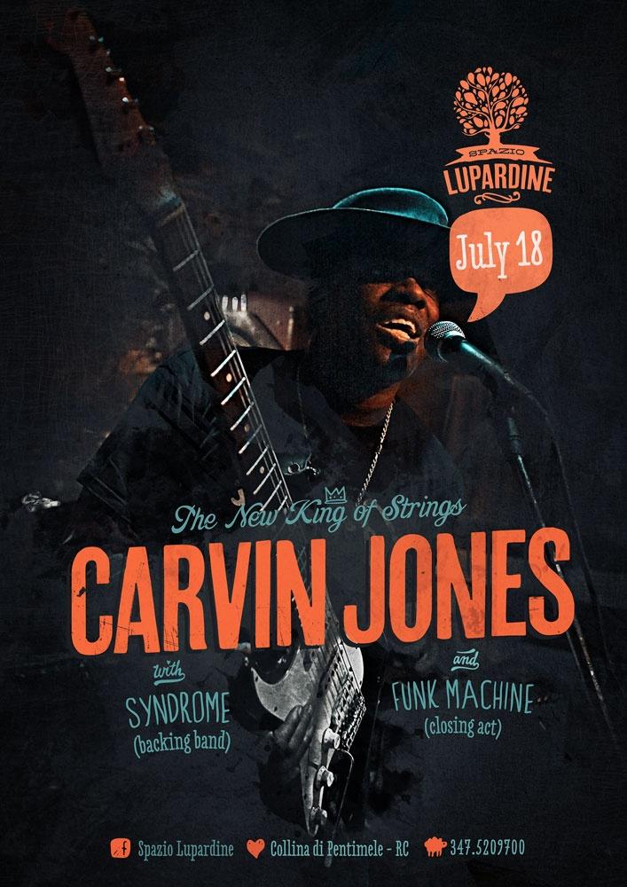 Carvin Jones live at Spazio Lupardine (Poster)