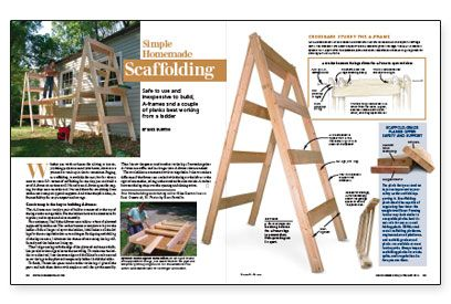 Simple Homemade Scaffolding | Sawhorses | Pinterest