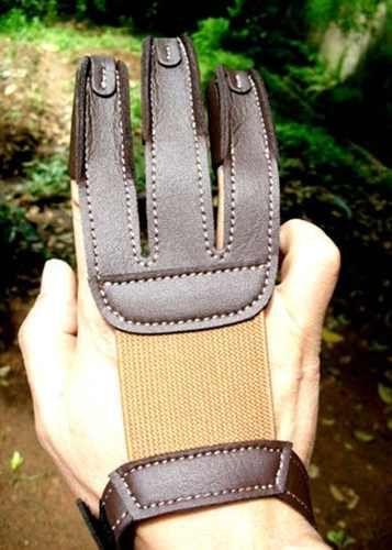 Luva Protetora De Dedos - Arco Recurvo - Couro
