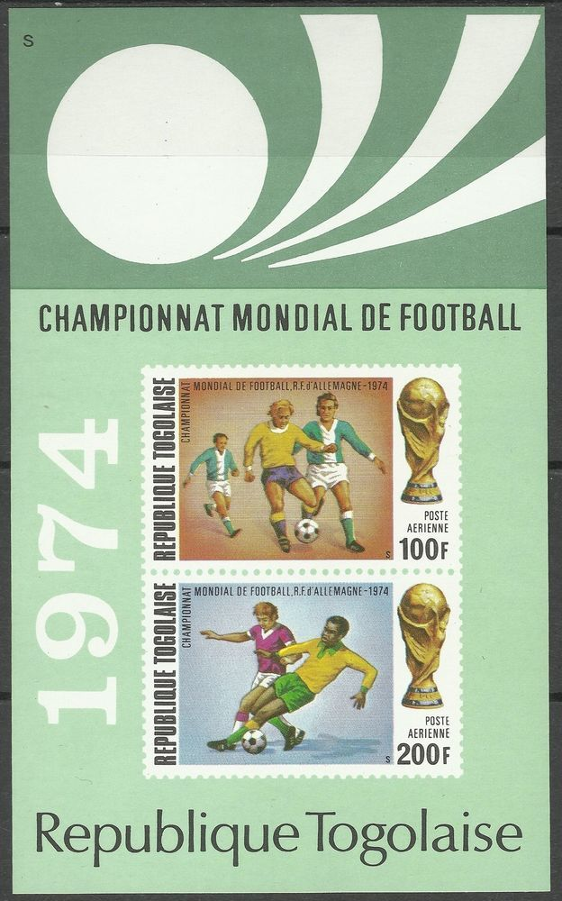 Togo Sport Coupe Monde Football Soccer Fifa World Cup in Germany Imperf ** 1974  | eBay