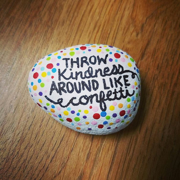 Painted rock / rock painting / rock art / painted stones / quotes / kindness