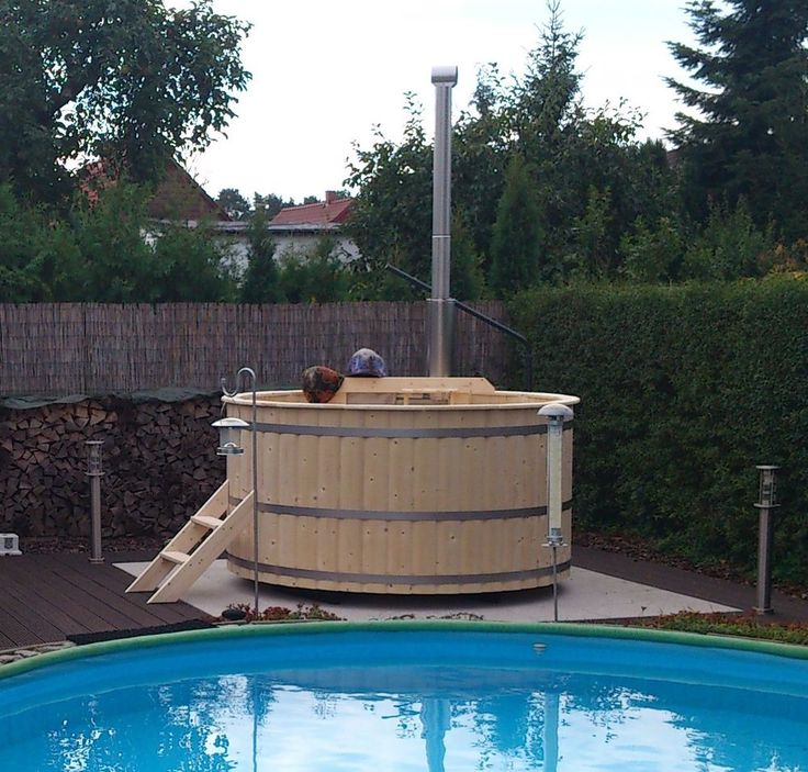 Badetonne Badezuber Badebottich Badewanne Hot Tub Sauna (BAUSATZ) DM 1,80 M
