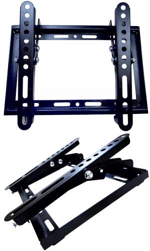 TVCables 200 x 200 Tilting TV Bracket 14-37 30kg Slim 200 x 200 Fixed TV Wall Mount suitable for TVs from 14 to 37 inch max weight 30kg supports VESA 50 x 50 VESA 100 x 100 and VESA 200 x 200. Black steel supplied with fixing kit. http://www.MightGet.com/may-2017-1/tvcables-200-x-200-tilting-tv-bracket-14-37-30kg-slim.asp