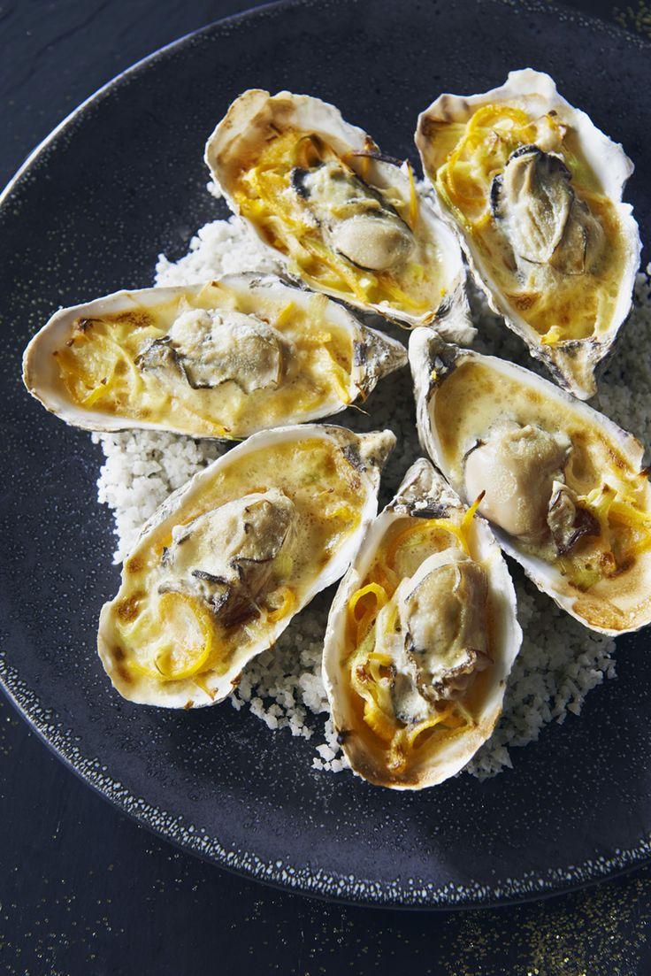 Huîtres chaudes en sabayon au cidre de Fouesnant - Régal                                                                                                                                                                                 Plus