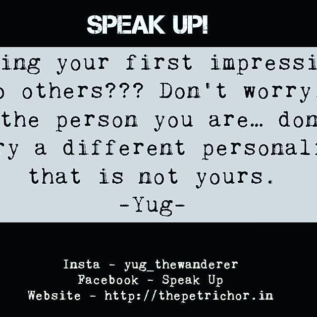 First impression is your first impression. #quote #quotes #quotesonlove #quotestoliveby #lifequotes #quotesonlife #quotes🖋 #sayings #sayingsandquotes #phrases #motivationalquotes #inspirationalquotes #inspired #inspireothers #inspireself #motivatepeople #counselor #counseling #healer #speakup #yug