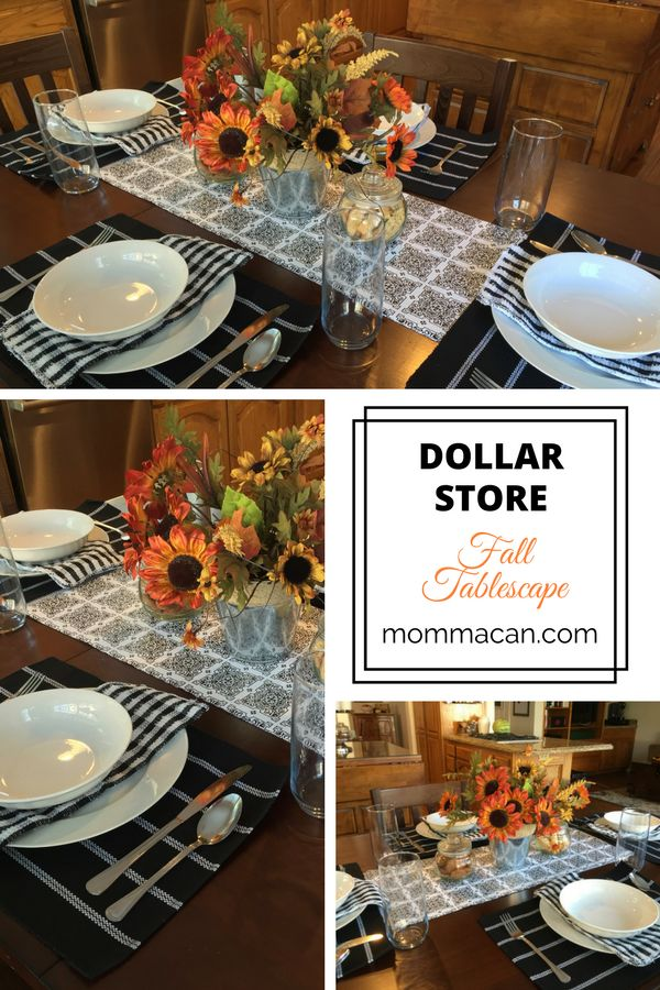 This dollar store fall tablescape came out beatifully for under 35 dollars! I am just amazed.