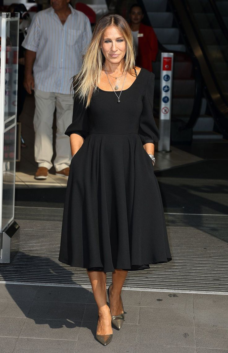 Sarah Jessica Parker Announces a New Line of Little Black Dresses on Instagram, for the Carrie Bradshaw in All of Us Little Black Dresses, dress, clothe, women's fashion, outfit inspiration, pretty clothes, shoes, bags and accessories