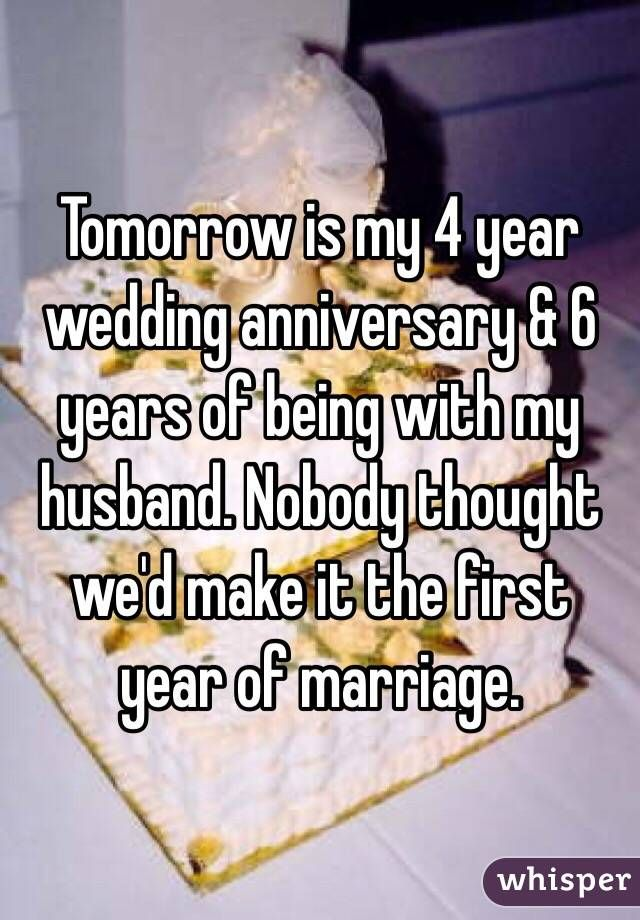 6 Years Wedding Anniversary