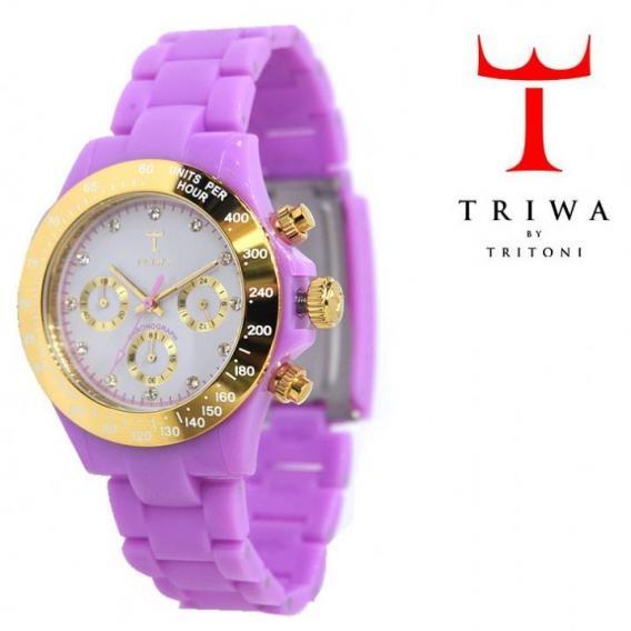 TRIWA(トリワ) クロノ グラフ リストウォッチ 腕時計 パープル×ライトグレー【送料無料】 wc-triwa-033