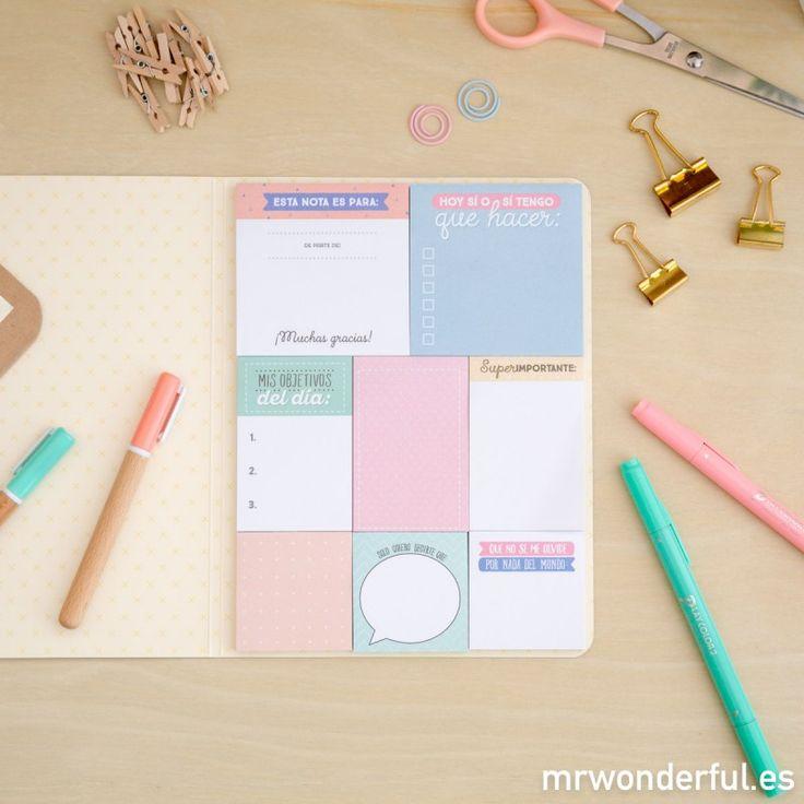Libreta de notas adhesivas – La vida es un placer cuando no dejas nada por hacer