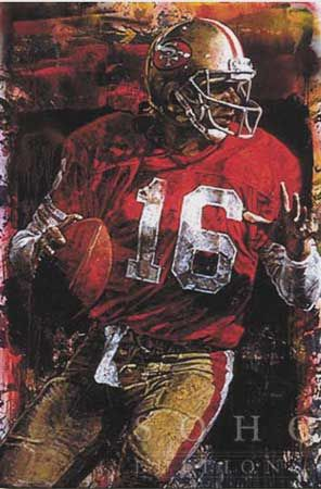Joe Montana, Quarterback San Francisco 49ers By Stephen Holland