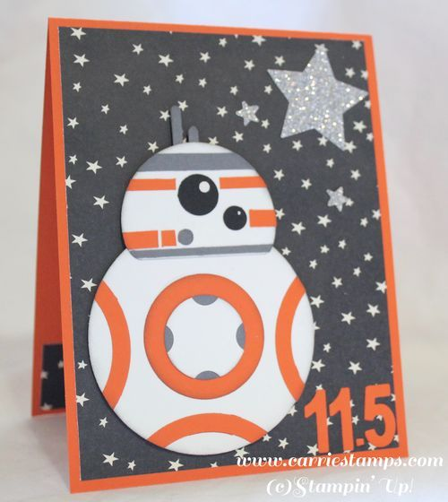 Star Wars - The Force Awakens droid BB8 punch art card.  (Pin#1: Children: Boys.  PIn+: Punch Art: Children).