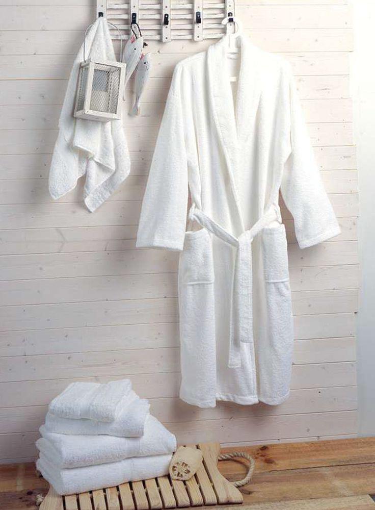 Musberry White bath robes