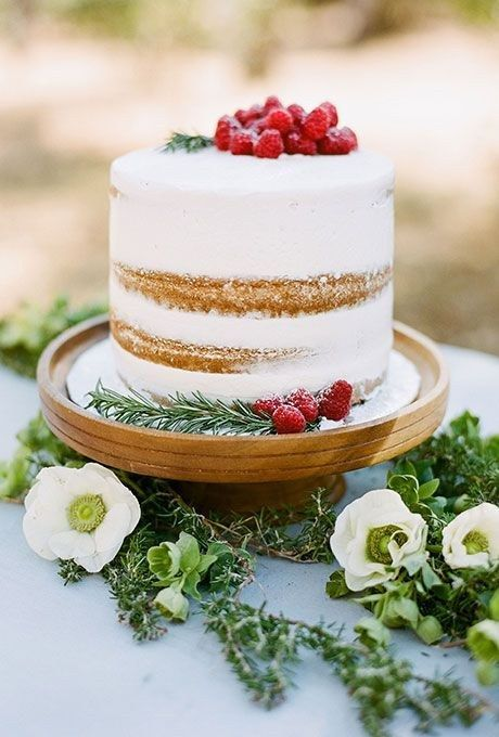 This simple, rustic one-tier cake. | 25 Incredibly Beautiful Wedding Cakes That Won 2015
