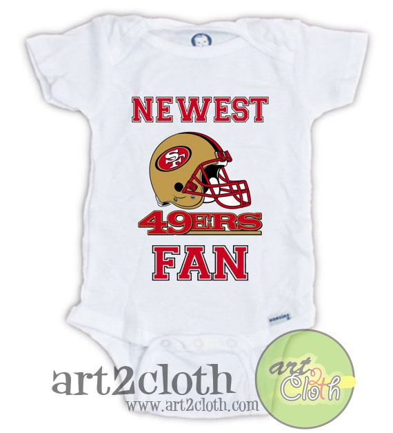 San Francisco 49ERS FAN Baby Onesie //Price: $14.00 // #FashionWomens |  Baby onesies, 49ers shirts, Onesies