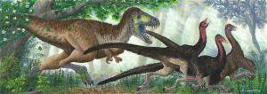 Tyrannosaur Charge! by Alexanderlovegrove