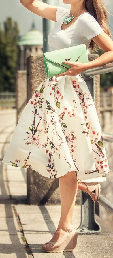 Blossom midi skirt- like it, but white may not be the most practical with a toddler