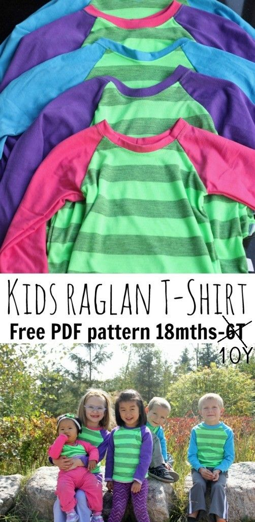 NOW WITH MORE SIZES!! raglan-shirt- free pattern-18M-10Y from Nap-Time Creations
