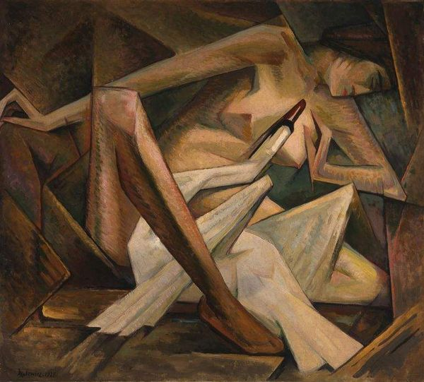 "Jerzy Hulewicz, """"Leda and the Swan,"" 1928, oil on canvas, 90 x 100 cm, National Museum, Warsaw"